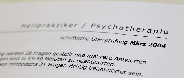 schriftliche Prüfung Heilpraktiker Psychotherapie